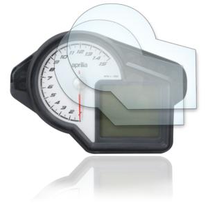 Panzerglassfolie Schutzfolie für Aprilia Tuono 2014+ Tacho Nano 9H Displayschutzfolie
