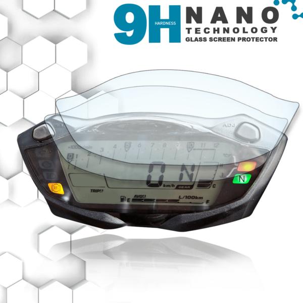 Panzerglassfolie Schutzfolie für Suzuki GSX-S1000/750 SV650 Tacho Nano 9H Displayschutzfolie