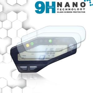 Panzerglassfolie Schutzfolie für Yamaha MT-09 / FZ-09 Tacho Nano 9H Displayschutzfolie