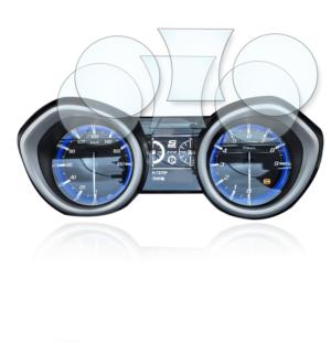 Yamaha TMAX 530 Tachoschutzfolie Displayschutzfolie