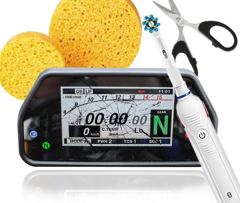 Kratzer entfernen bei deiner Motorrad Tachoeinheit für unter 10€